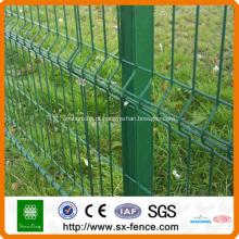 Painel de cerca de malha de arame verde