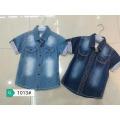 Summer fashion short sleeve shirt kids top sale denim shirt boys Blouses