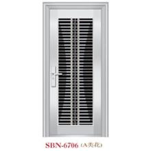 Puerta de acero inoxidable para exteriores (SBN-6706)