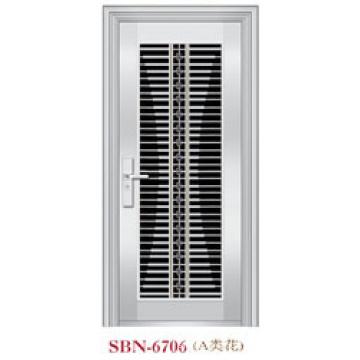Porta de aço inoxidável para a luz do sol exterior (SBN-6706)