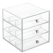 Durable Acrylic Clear Stackable 3-Drawer Storage Organizer