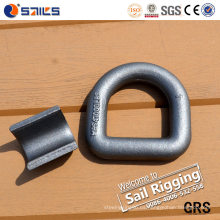 Heavy Duty Carbon Steel Forged Welded D Ring con soporte