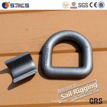 Сверхмощная Выкованная сталь углерода сварных D кольцо с кронштейном