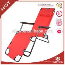 verstellbarer Klappstuhl einfacher Sitz und Lüge