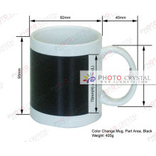 Sublimation Porcelain Color Changing Mug 11oz