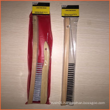 Wooden Handle Steel Wire Brush Popular for USA