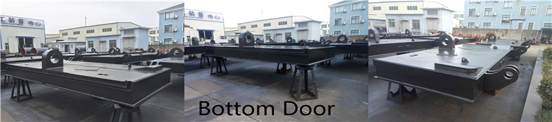 Marine dredger bottom doors