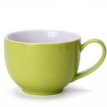Taza de café ecológica con leche de cerámica con soporte