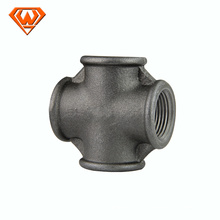 Black malleable irrigation cross joint pipe fitting