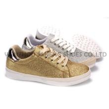 Zapatos de mujer ocio PU zapatos con suela de cuerda Snc-55008