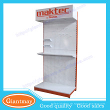 Messe-Metall-PEG-Hang Hardware-Produkt Garten-Power-Tool-Display-Stand-Rack mit Licht-Box