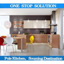 Pole Island Stil Hochglanz UV Küche Schrank