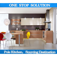 Pole Island Style High Gloss UV Kitchen Cabinet