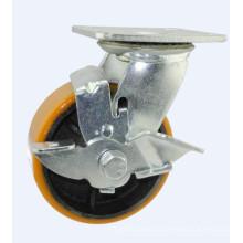 H19 Roulement à billes à double rouleau H19 sur roue de roulette en fonte de fer