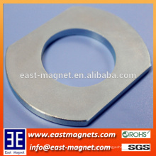 custom-made competitive Permanent NdFeB Neodymium Magnet with hole/special ring shape strong magnet with hole