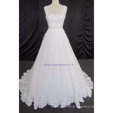 Tulle Ruched assimétrico modesto vestido de noiva
