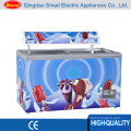 538L Curved Glass Door Deep Chest Freezer for Ice Cream Display