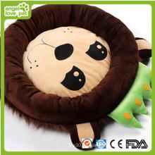 Cojín y cama suaves del perro del animal doméstico del diseño lindo del león