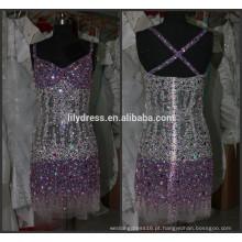 Últimos projetos Beaded Custom Made Cocktail Occasion Party CD067 vestidos de cocktail de diamante de cristal