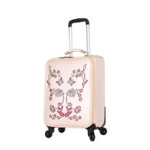 PU travel luggage popular selling trolley luggage