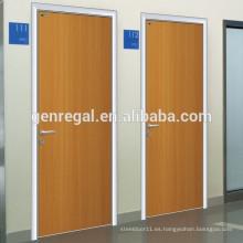uso de la oficina del hospital Marco de aluminio Puertas de madera
