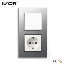 Interruptor de pared eléctrico de Ivor con el zócalo alemán OEM / ODM