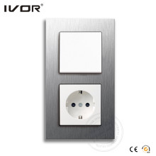 Ivor Electrical Wall Switch with German Socket OEM / ODM