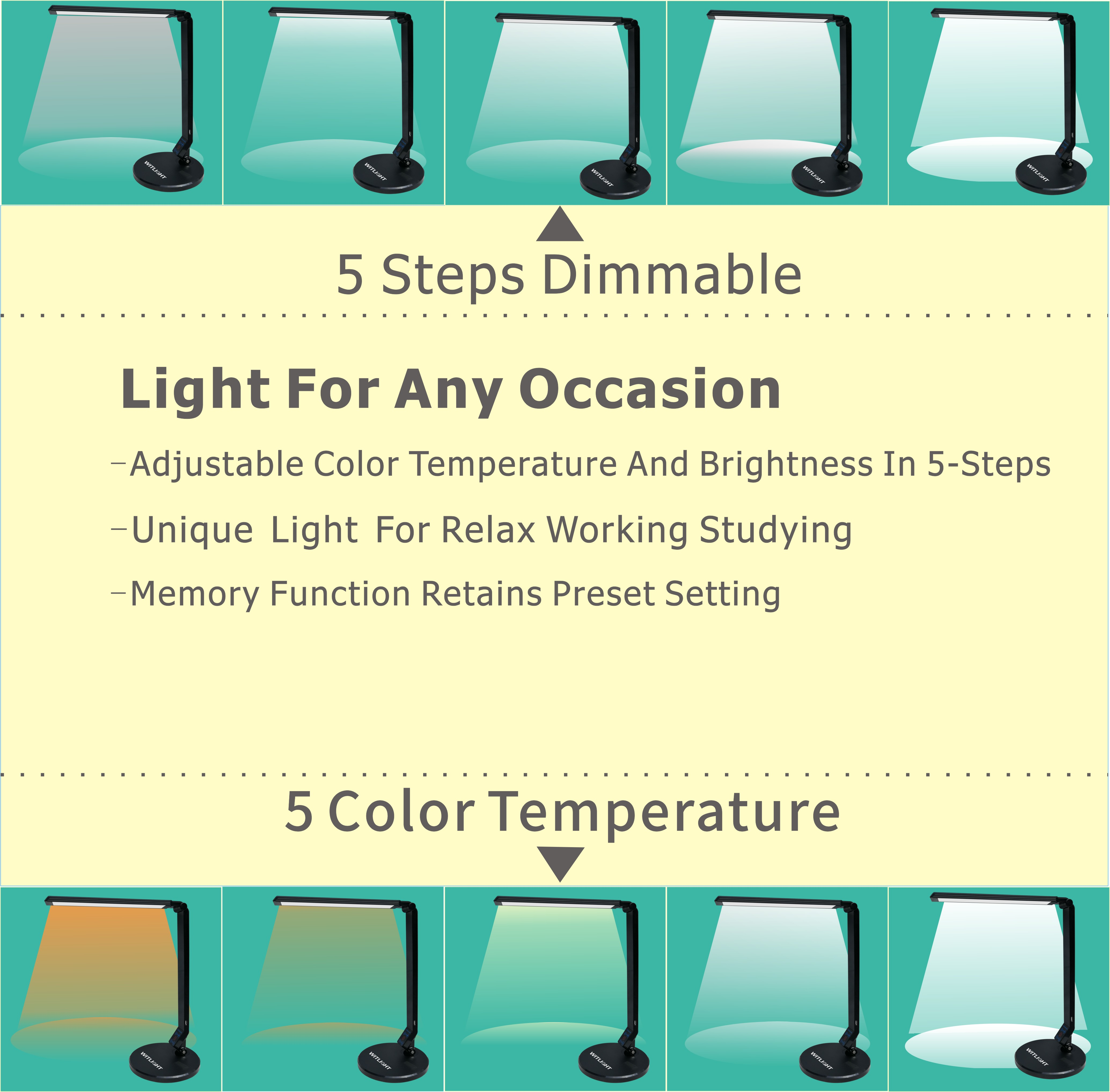 USB Port LED Desk Lamp For Smart Device
