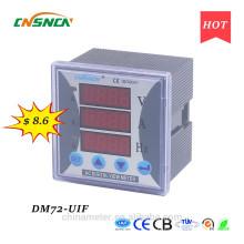 DM72-UIF taille du panneau 72 * 72mm monophasé à courant continu d'utilisation industrielle numérique volt ampère et hertz compteur combiné