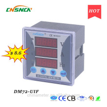DM72-UIF panel size 72*72mm single-phase ac led industrial usage digital volt ampere and hertz combined meter