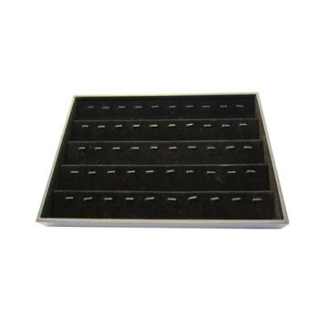 Пользовательские Модные 50 клипов Черный Flocked Коробка для хранения подвески (TY-50R-BV)