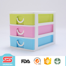 High grade 3-layer storage document plastic drawer box for wholesale