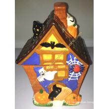Ceramic Halloween House Shape Canister