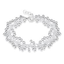 Trauben-Form Silber überzogene Armband-Frauen-silberne Art- und Weiseschmucksache-runde Form-Schmucksachen