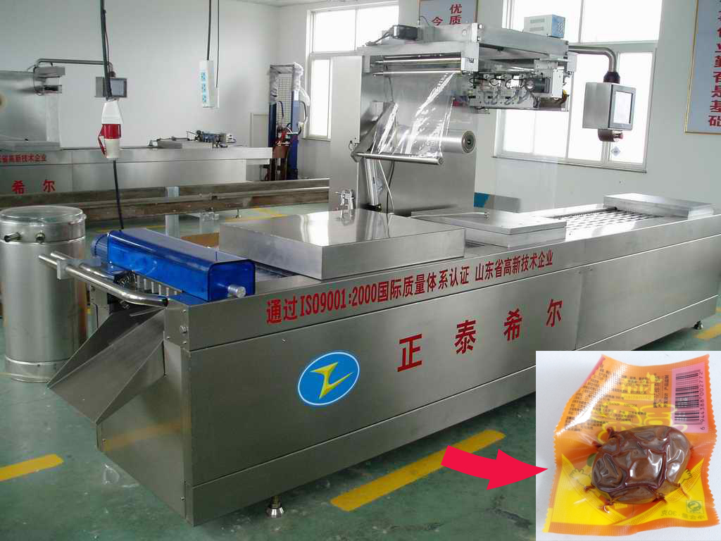 Preserved egg thermoforming vacuum packing machine