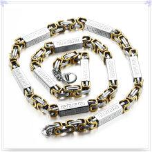 Moda jóias colar de moda cadeia de aço inoxidável (sh057)