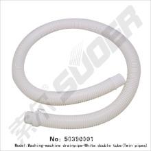 Washing machine drainpipe-white double tube(twin pipes)