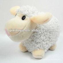 adorável mini recheado e brinquedo de ovelha branca de pelúcia