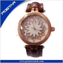 Reloj de pulsera de cuarzo de acero inoxidable Psd-2310 reloj de señora