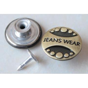 Silberne bewegliche Jeans knöpft B292