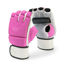 Pink Gym Training PU Leather Boxing Military Gloves