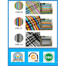 Cheap Sale 65% Cotton 35%Polyester Striped Printed Canvas Fabric in Stock 250GSM Wedth 150cm