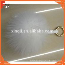 Fox Fur Pom Pom Keychain for Handbag