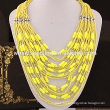 2015 estilo bohemia 6 colores en collar de cuentas de existencias