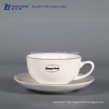 Großhandel Knochen China Kaffeetasse und Untertasse, Thermische Kaffeetasse Hersteller aus China
