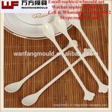 Moule en plastique de cuillère à café d'injection de Multi-cavité / conception et fabricant de moule de cuillère de café
