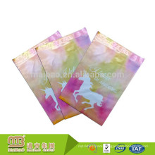 "Tearproof Custom 6"" X 9"" Pink Unicorn Vibrant Print Personalised Mailing Bags For Retail Store"