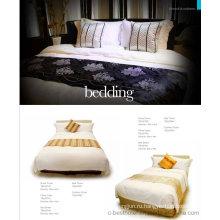 100% хлопчатобумажные однотонные белые постельные комплекты