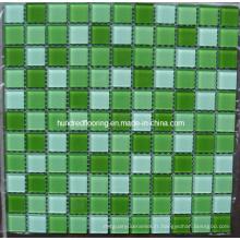 Mosaïque de piscine en mosaïque de verre de cristal (TCW004)