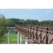 Clôture en bois municipale de construction de paysage basse maintenance WPC Garde-corps